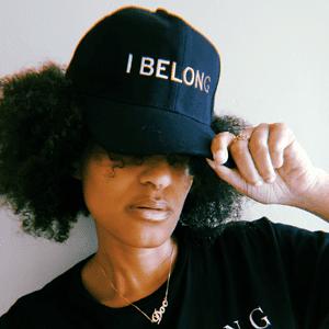 Consciously Unbiased Black 'I Belong' Hat Skintone