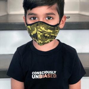 Consciously Unbiased Kids Black T-Shirt in Skintone